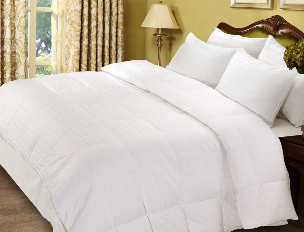 luxury aloe vera white goose down comforter 6
