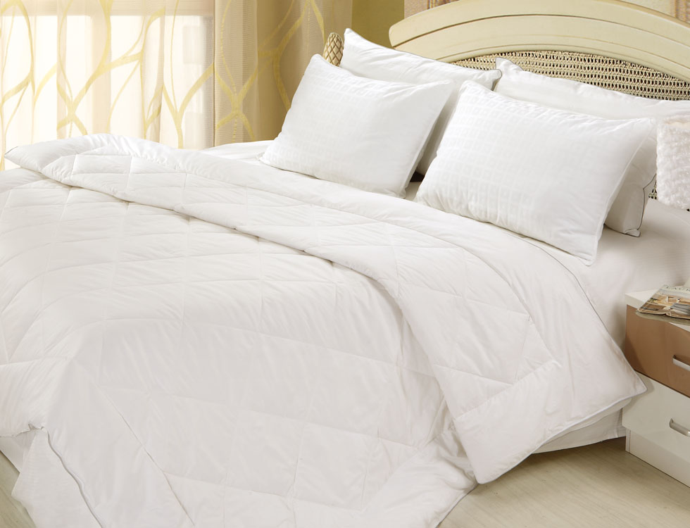 All Season Silver Antimicrobial White Down Comforter